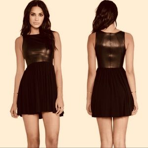 Anthro Bailey 44 faux leather dress